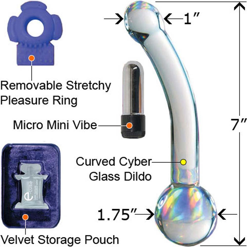 "Dannis CyberGlass G-Spot Lover Kit with Mini Vibe 7"" - View #2"