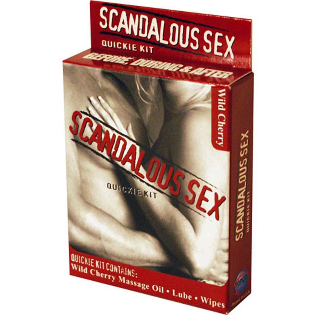 Scandalous Sex Quickie Kit with Wild Cherry Massage Oil - View #2