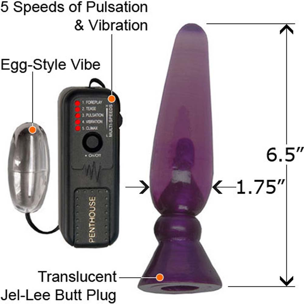 Vibrating Pleasure Probe with eZ 1 Touch 5X Wild Violet - View #2