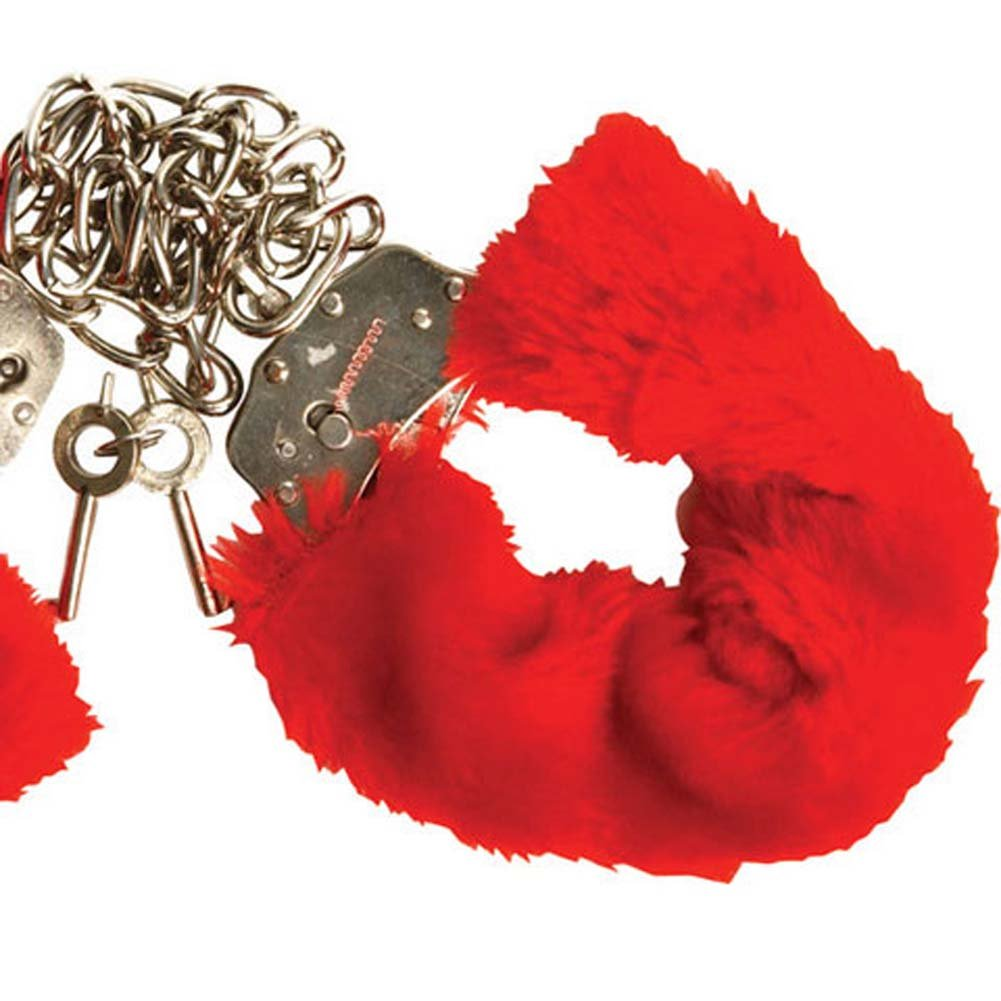 Captivity Cuffs by Penthouse Variations Restrained Red Fur - View #2