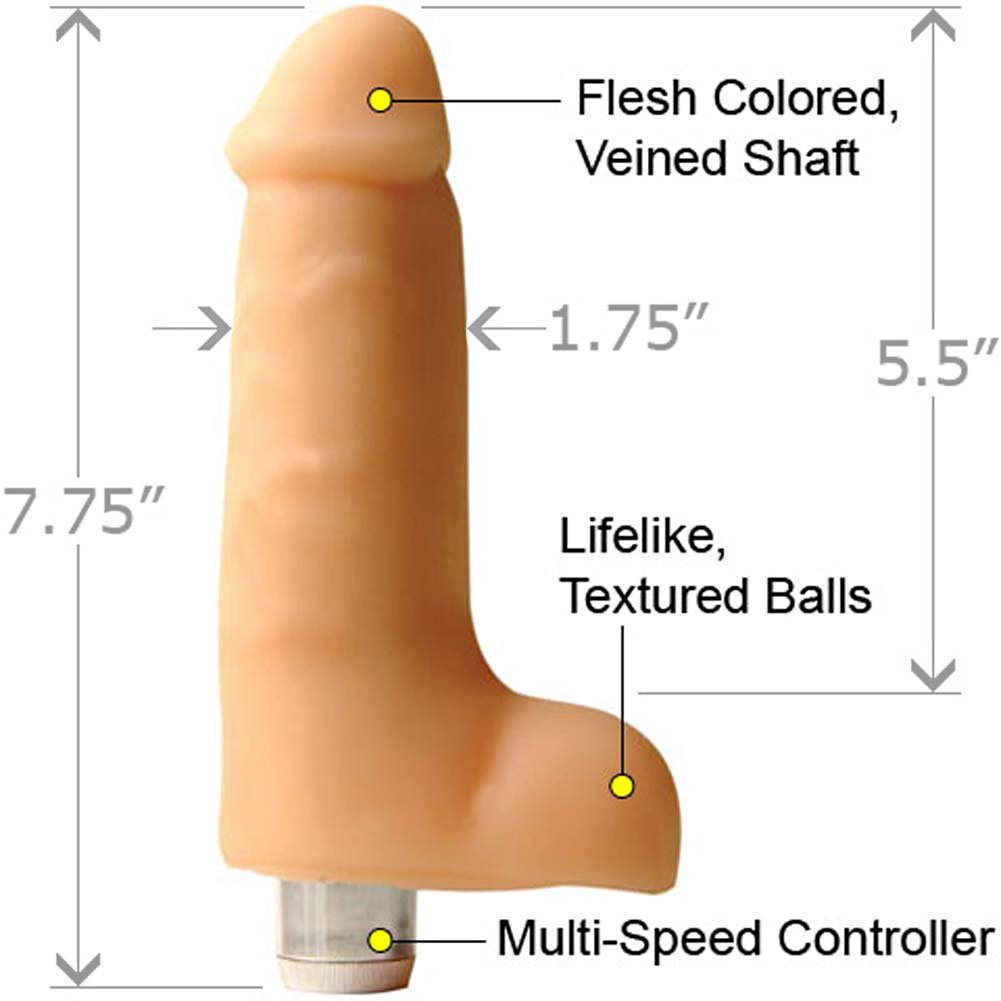"Penthouse CyberSkin Cyber Reality Vibrator 7"" Cock Natural - View #1"