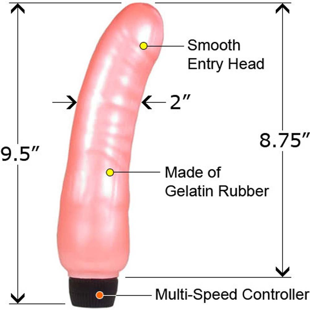"Jazzy Gelatin Power Vibe Rhumba 9.5"" Pink - View #1"