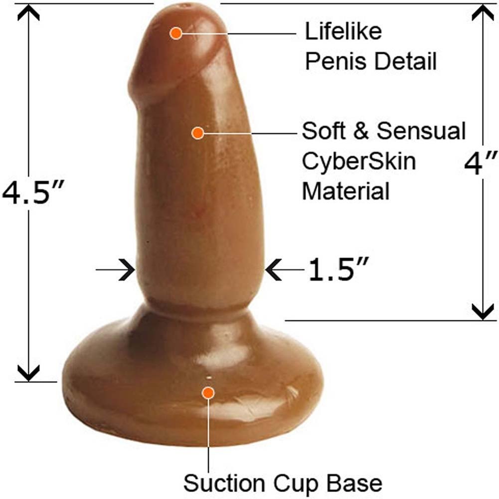"Adam and Eve Little Stud Butt Plug for Men and Women 4.5"" Cinnamon - View #1"