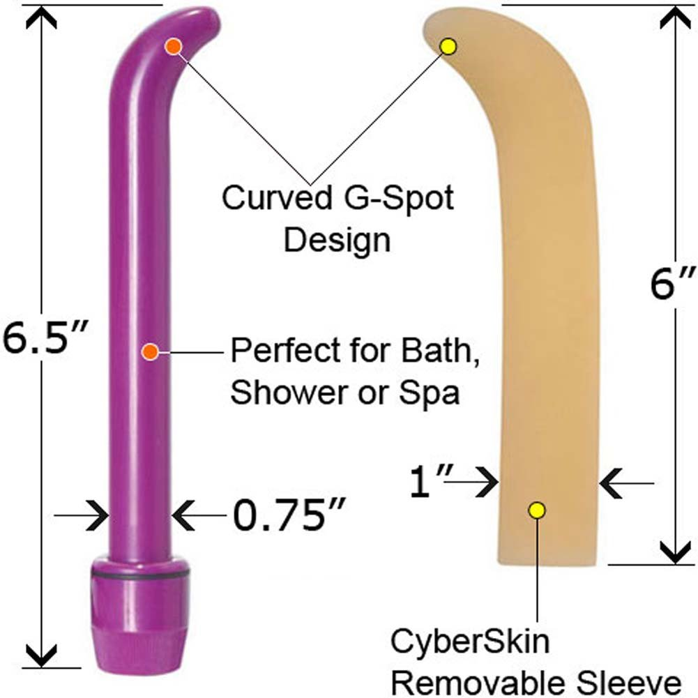 "Ultra Slim G-Spot Vibe and Natural CyberSkin Sleeve 6.5"" - View #1"