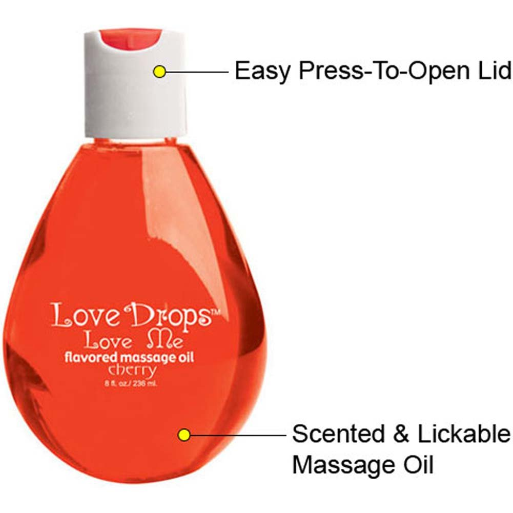 Love Drops Sweet Cherry Massage Oil 8 Fl. Oz. - View #1