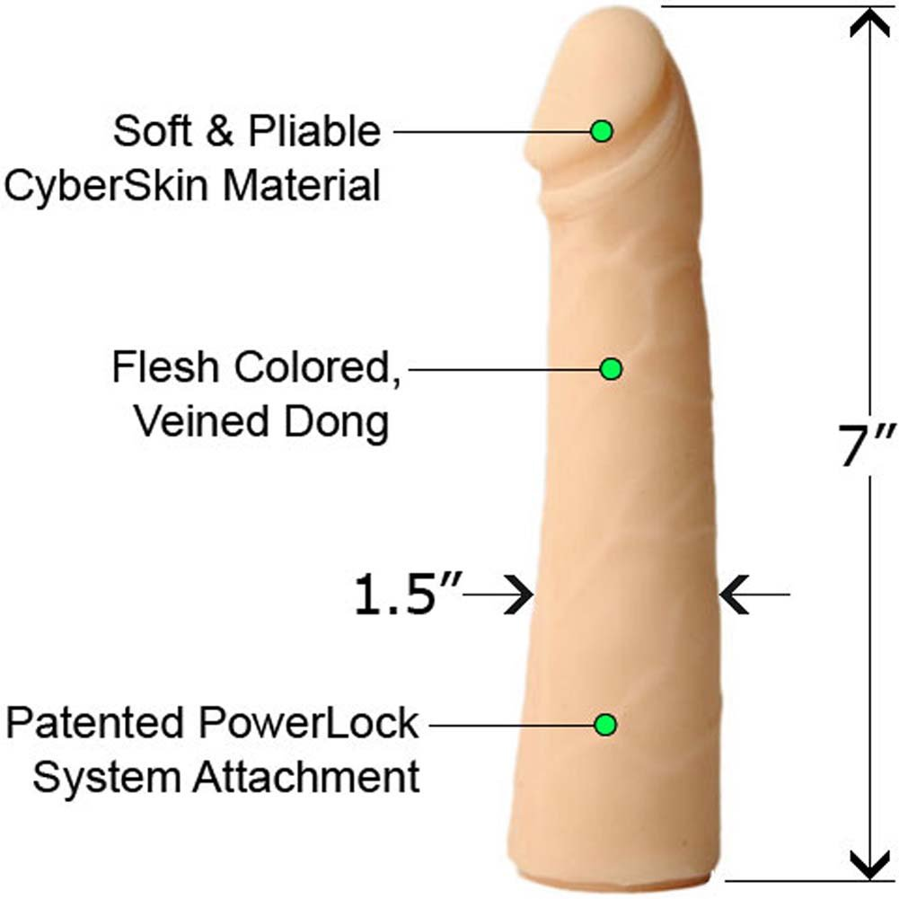 "PowerLock CyberSkin Slimline Cock 7"" Natural - View #1"