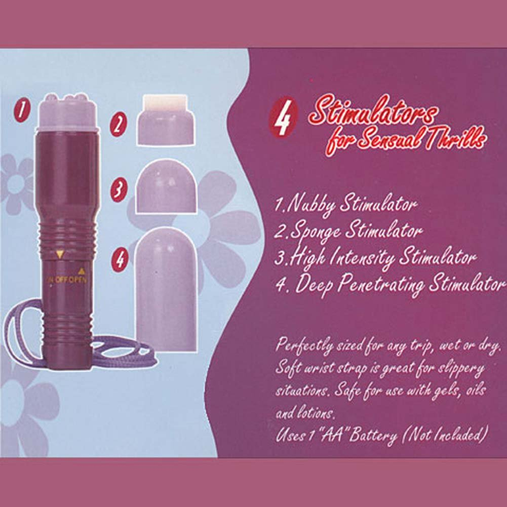 My 1st Wet Dream Waterproof Mini Massager with 4 Stimulators - View #3