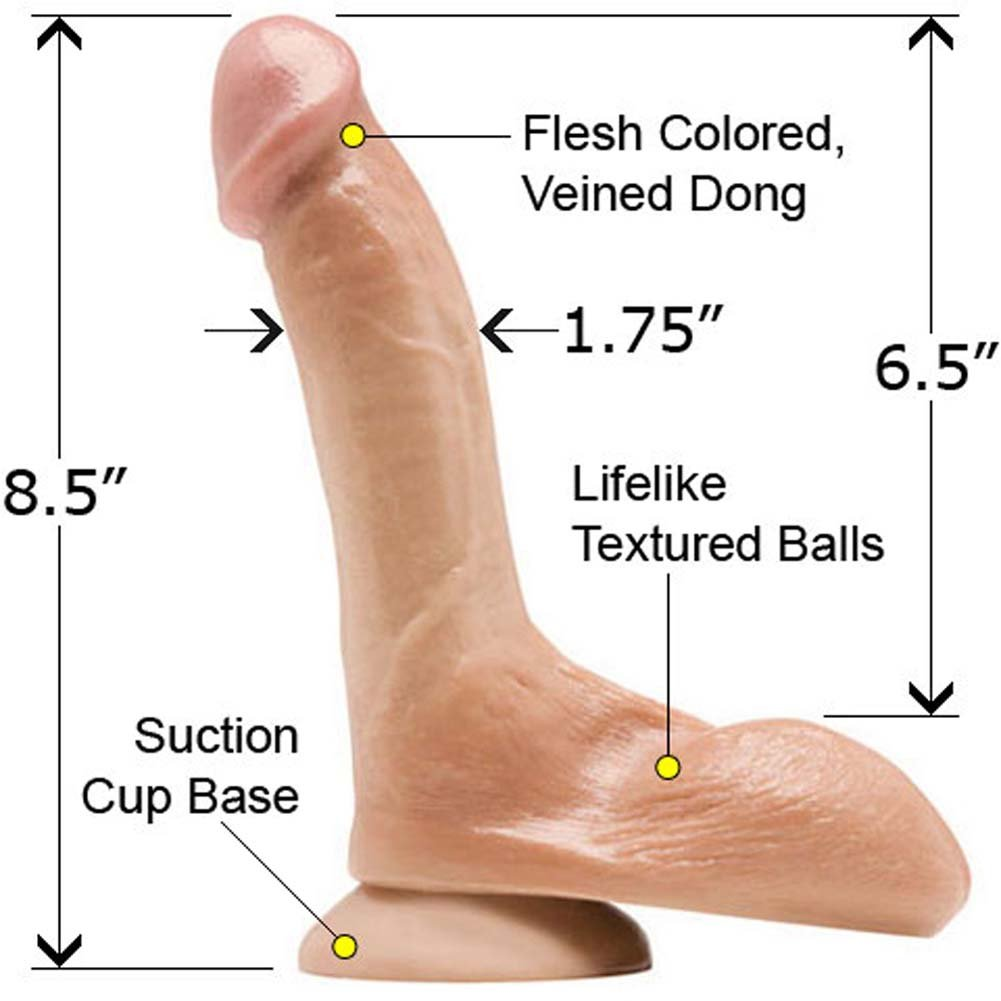 "Rascal Toys Jeremy Bilding SensaFirm Penis 8.5"" Natural - View #1"
