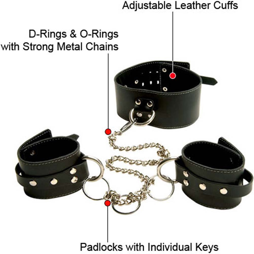 Penthouse Variations Black Leather Entrapment Kit - View #1