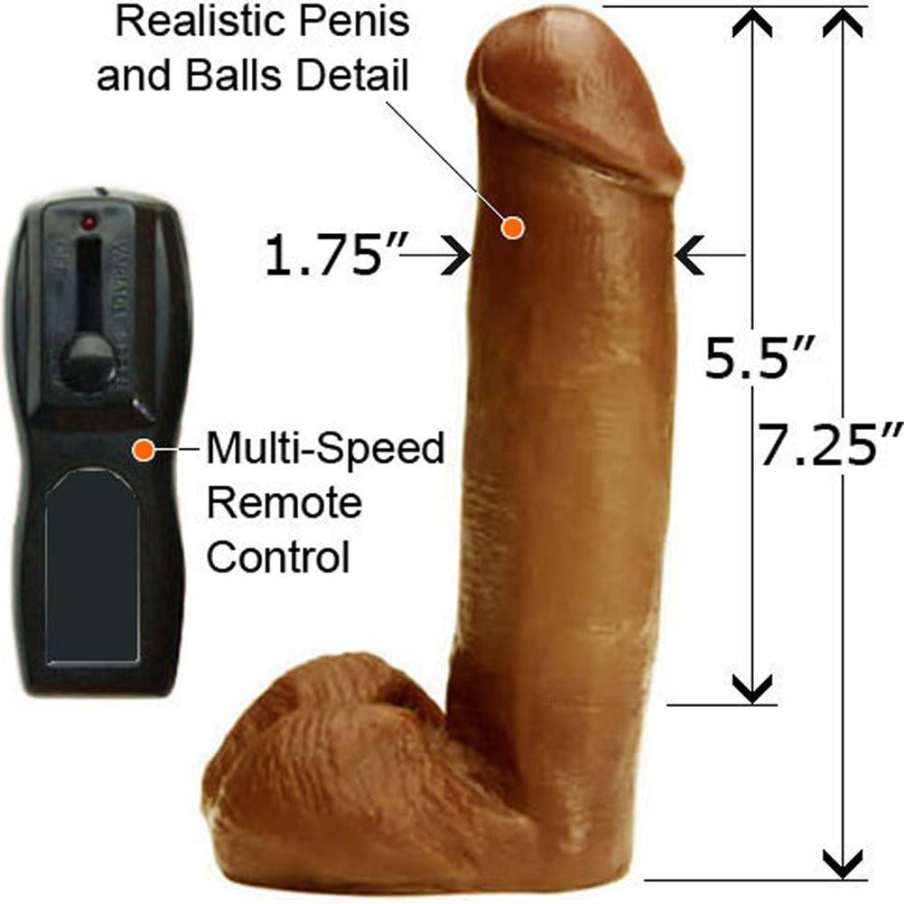 "Real Man Joltin Johnson Realisitc Vibe 7.5"" Cinnamon - View #1"