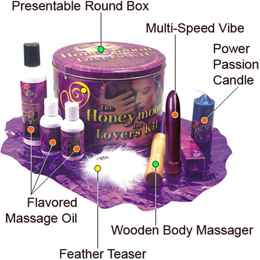 Honeymoon for Lovers Kit with Intimate Vibrator and Lubes - View #1