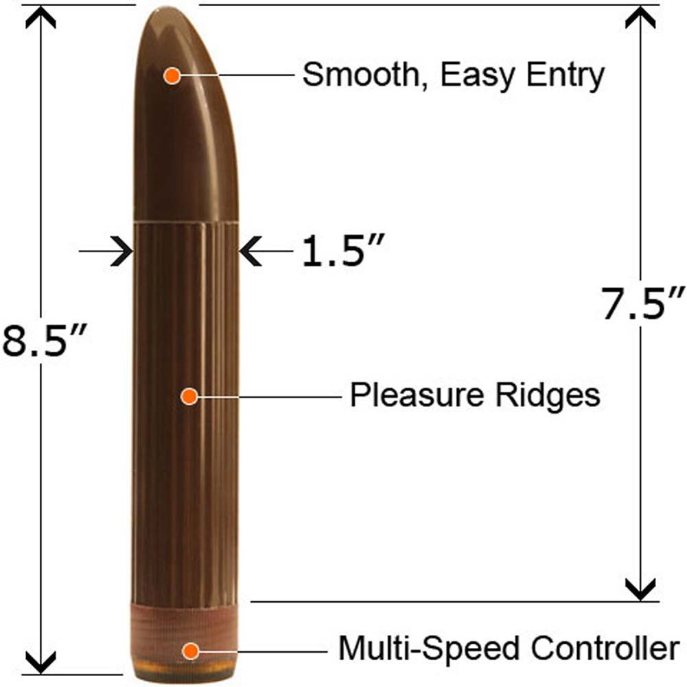 "Bullnose Milti Speed Sensual Vibrator 8.5"" Brown - View #2"