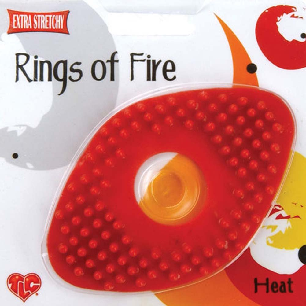Rings of Fire Extra Stretchy Cock Ring for Couples Red - View #3