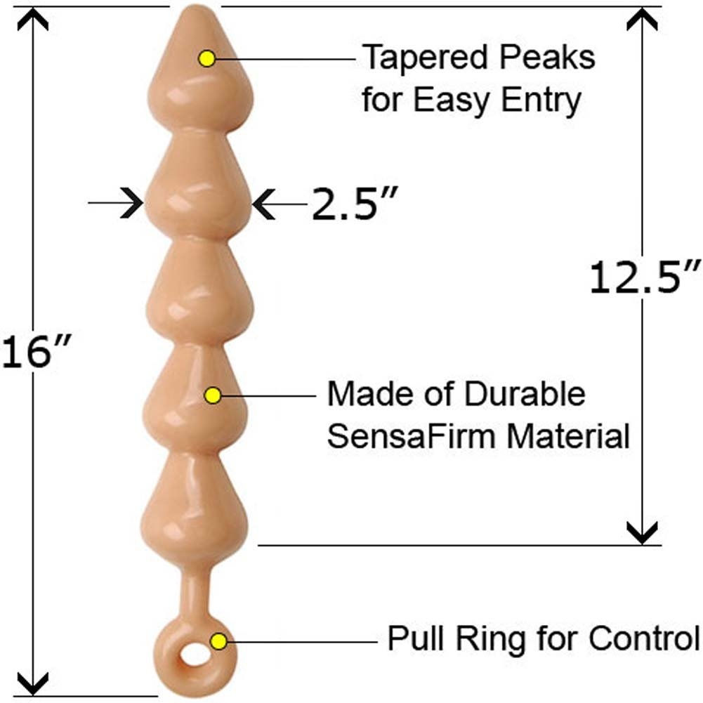 "Rascal Toys Links XL Butt Plug 16"" Natural - View #1"