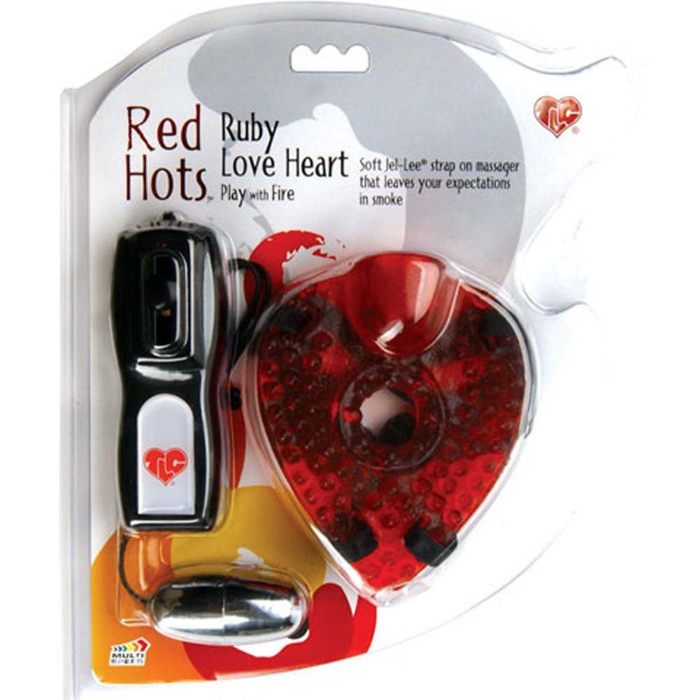 Red Hots Ruby Love Heart Strap-On Jelly Vibe - View #4