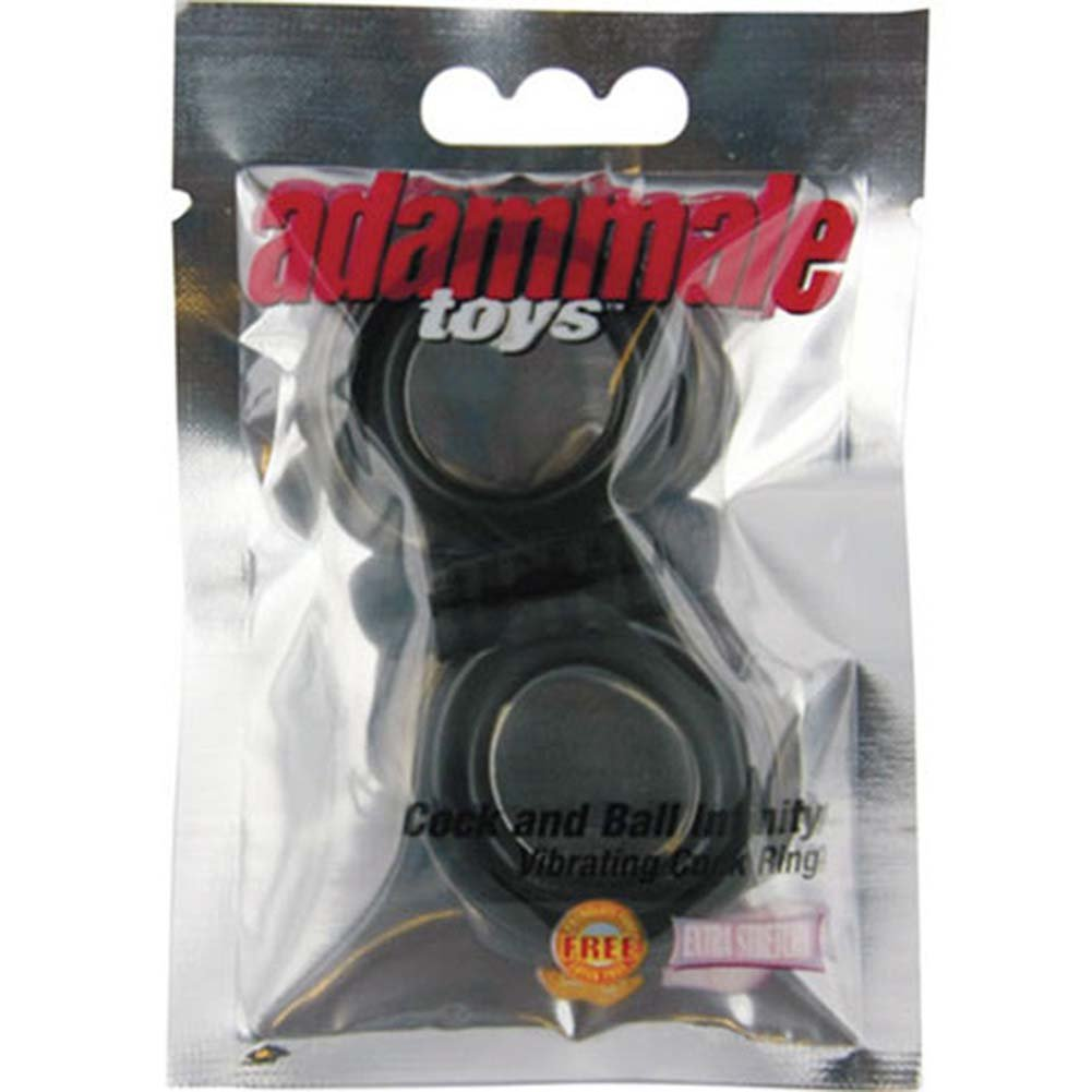 AdamMale Toys Cock and Ball Infinity Vibrating Jelly Ring. - View #4