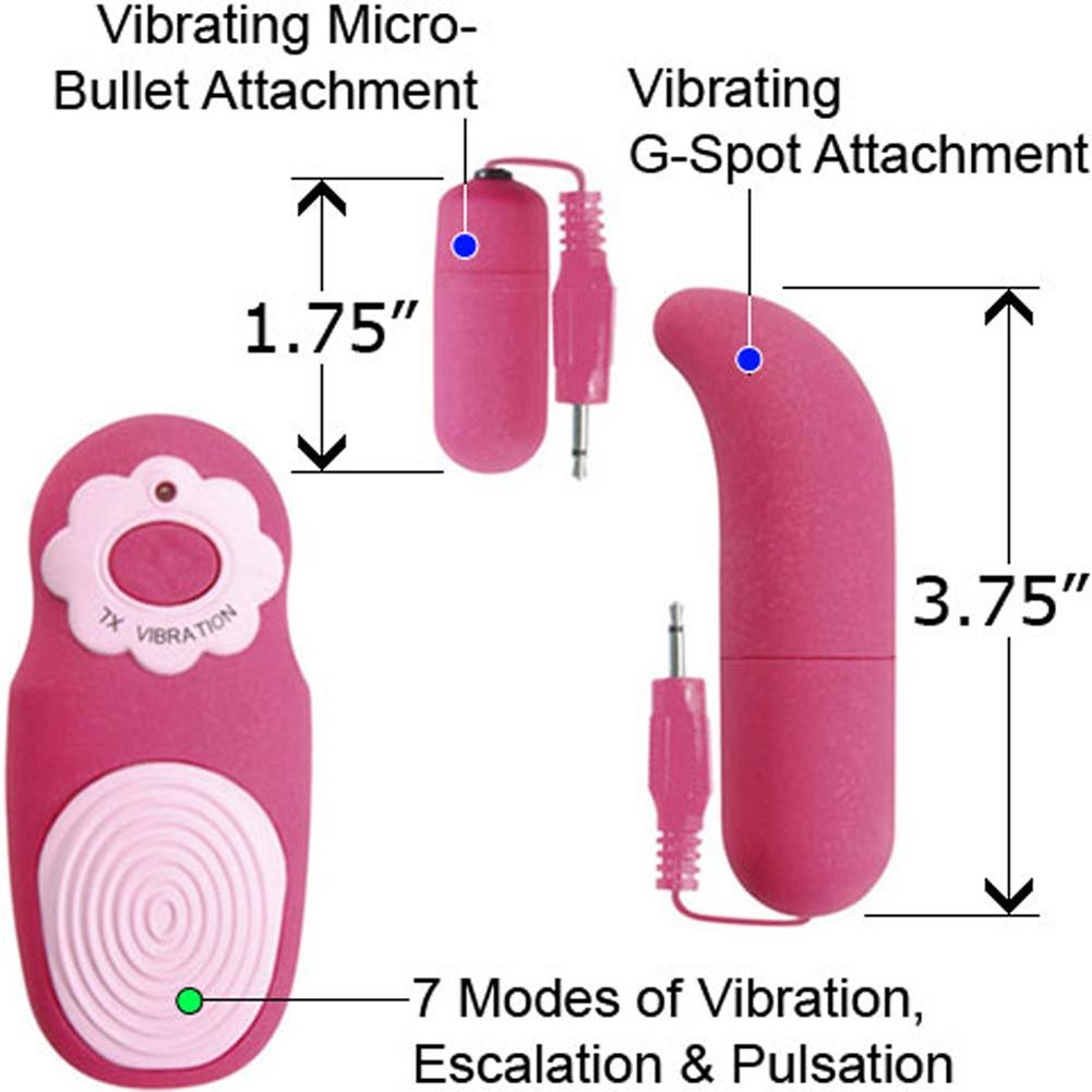 My First G-Spot Kit with 2 Vibrating Attachments Magenta - View #1
