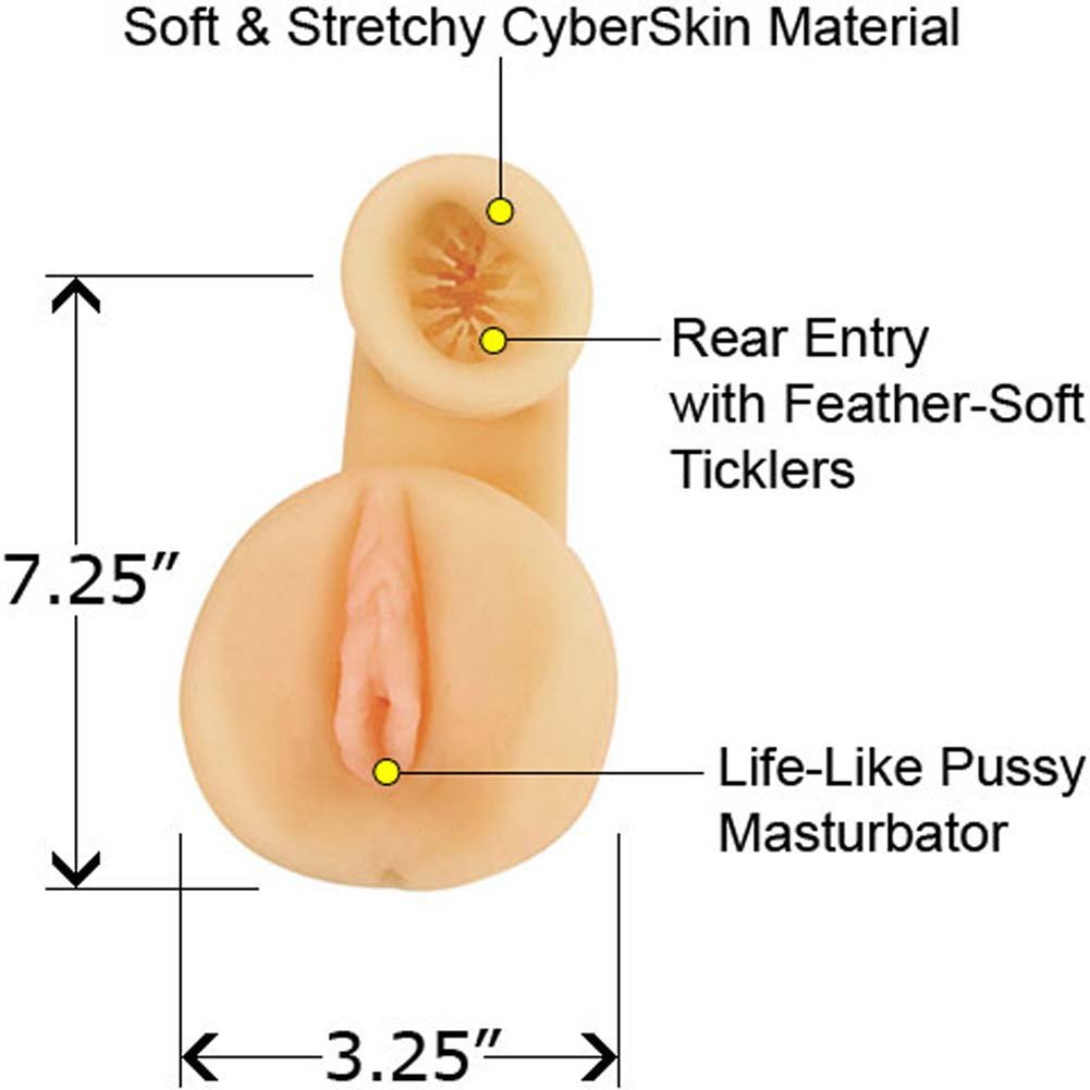 X Rated CyberSkin Double Fucker Masturbator Natural - View #1