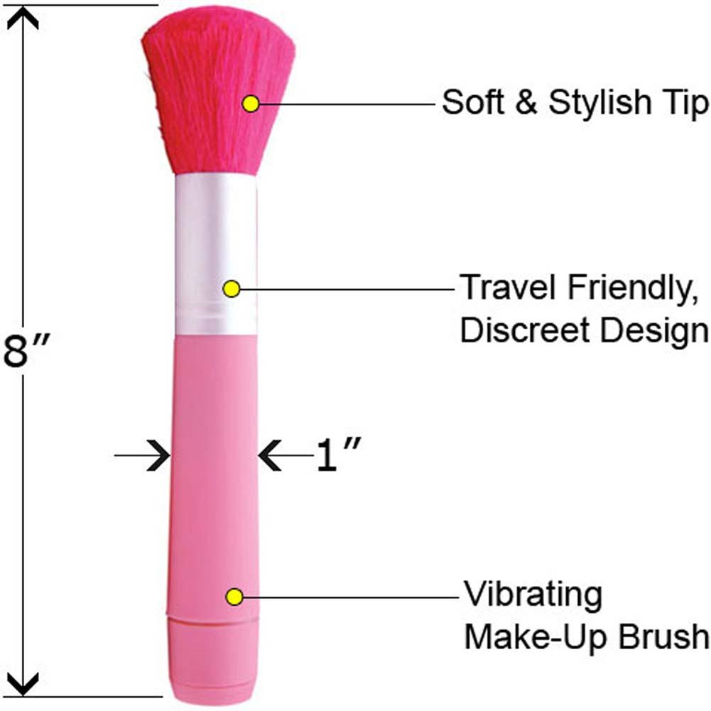 "OptiSex Vibrating Tickling Dust Brush 8"" Hot Pink - View #1"