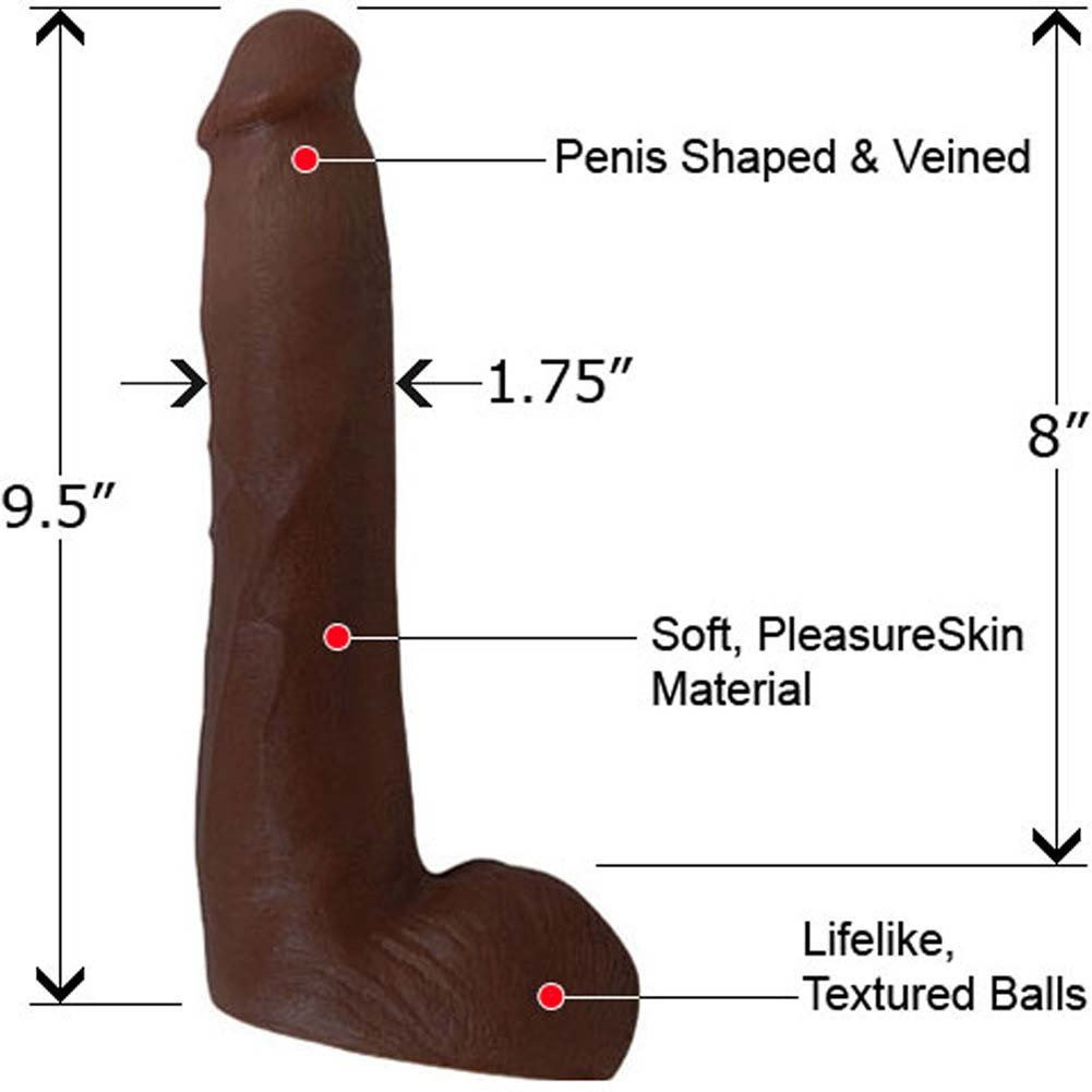 "Lexington Steeles Lex Caliber Dildo 9.5"" Ebony - View #1"