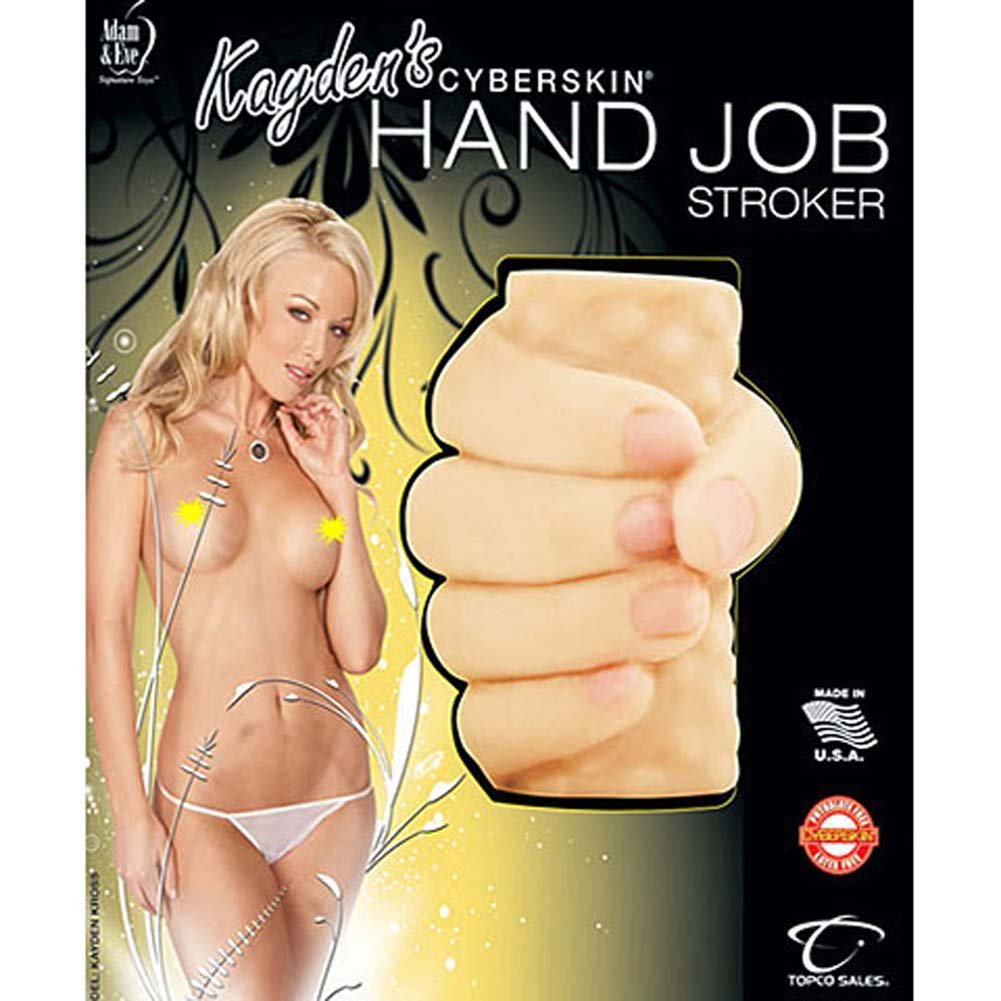 Kaydens CyberSkin Waterproof Hand Job Stroker Natural - View #4