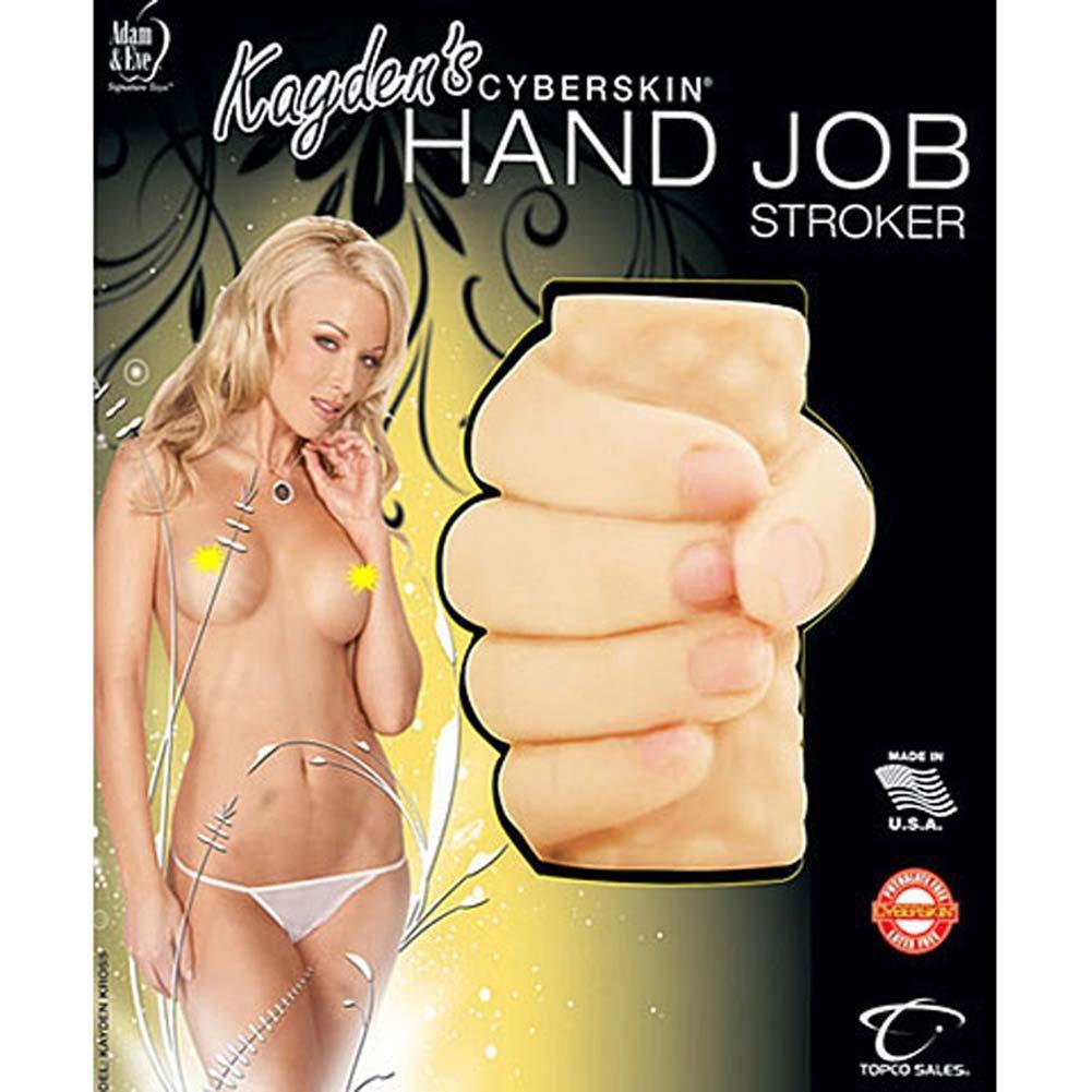 Kaydens CyberSkin Waterproof Hand Job Stroker Natural - View #4