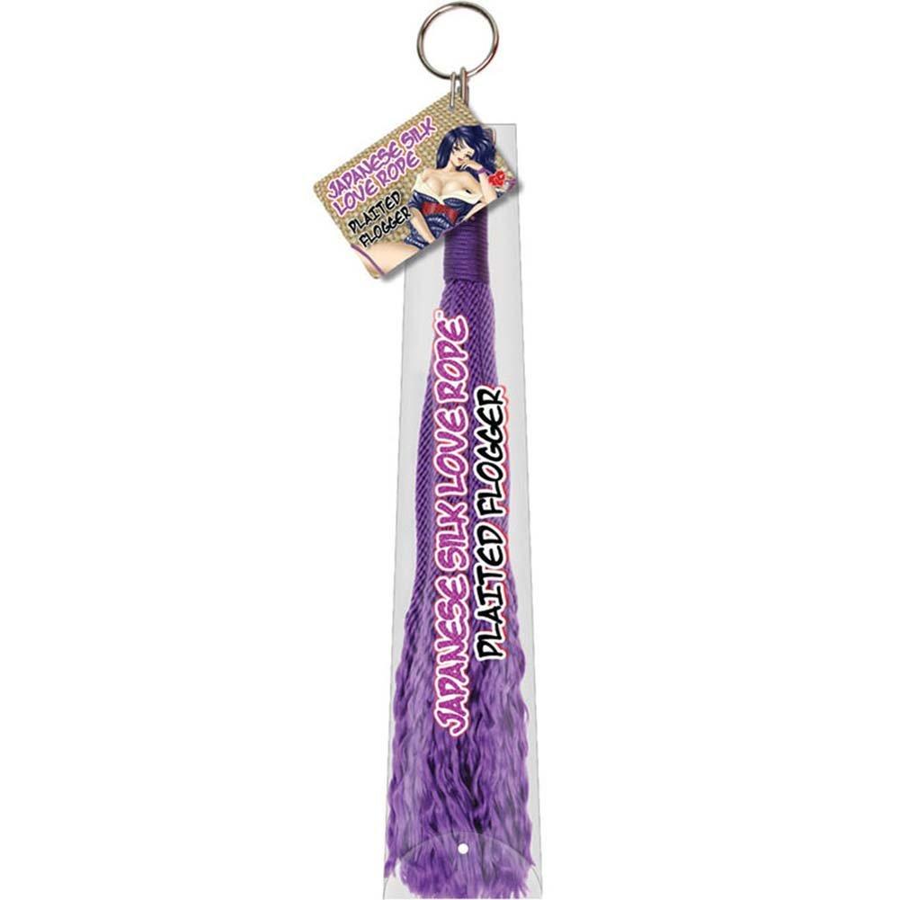 "Japanese Silk Love Rope Plaited Flogger 24"" Purple - View #3"