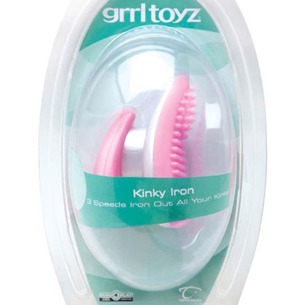 """Grrl Toyz Kinky Iron Clitoral Vibrator 3.75"""" Pink - View #3"""