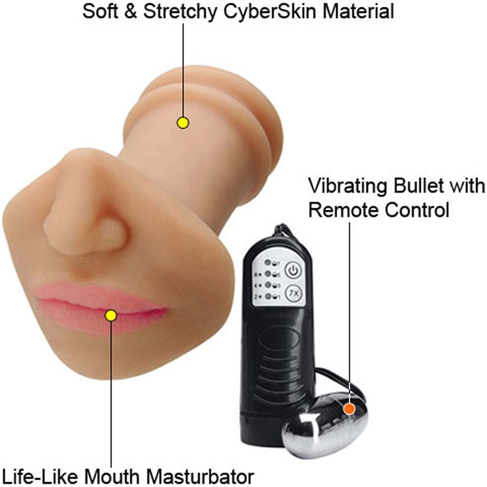 Allanah Starrs Vibrating CyberSkin Deep Throat Stroker - View #1