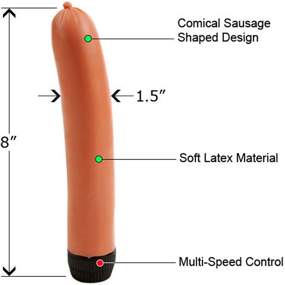 "Vibrating Sausage Body Massager 8"" Natureal - View #1"