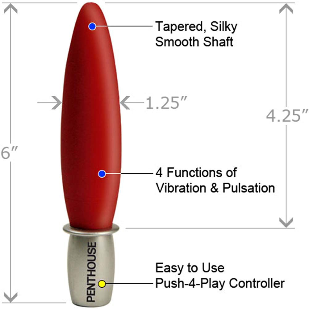 "Penthouse City Paris Personal Vibrator 6"" Hot Red - View #1"
