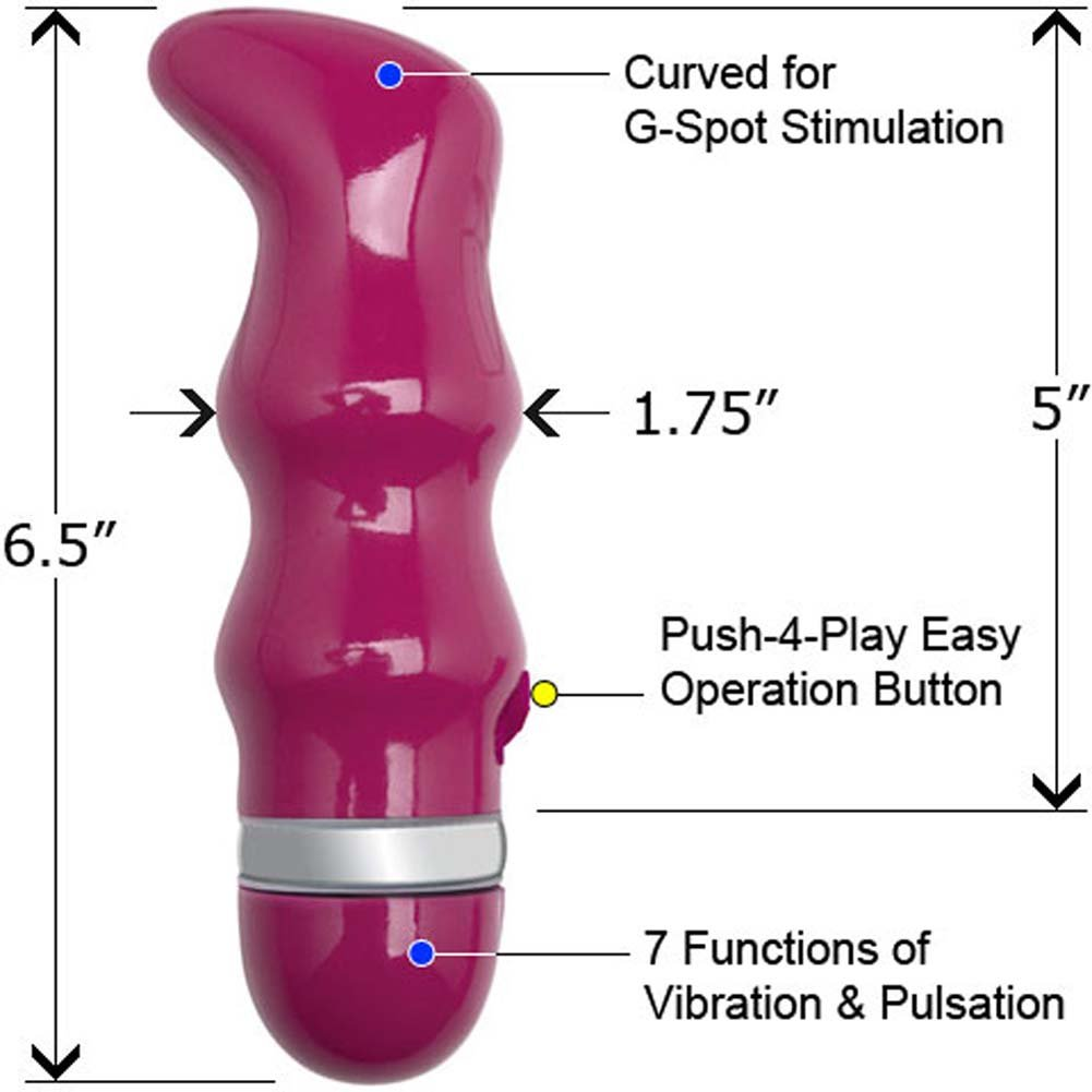 "Penthouse Secrets G-Spot Dream 7X Vibe 6.5"" Demure Pink - View #1"
