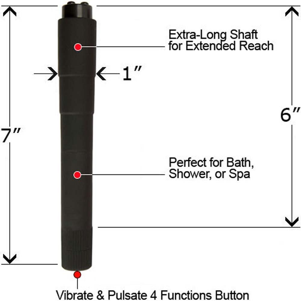 """4 Function Waterproof Pleasure Point Vibe 7"""" Black - View #1"""