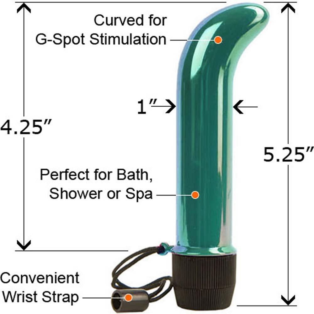 "Aqua G Waterproof G-Spot Vibe 5.25"" Iridescent Teal - View #1"