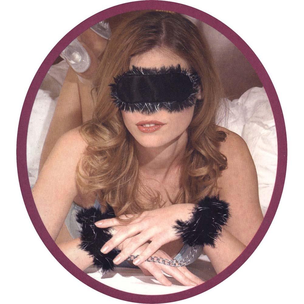 Racy Restraints Wristlets and Eyemask Kit Black - View #2