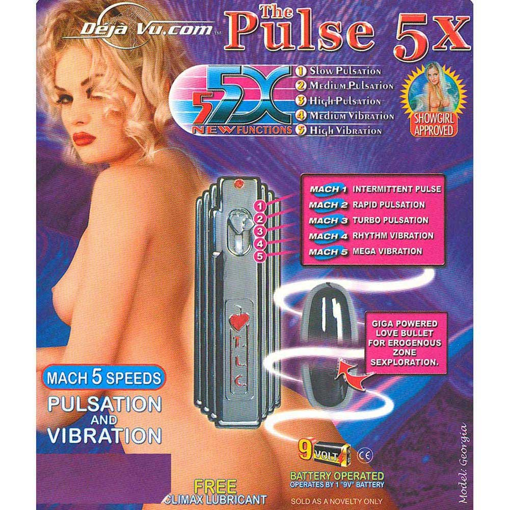 "Deja Vu Pulse 5X Vibrating Bullet 2.25"" Silver - View #3"
