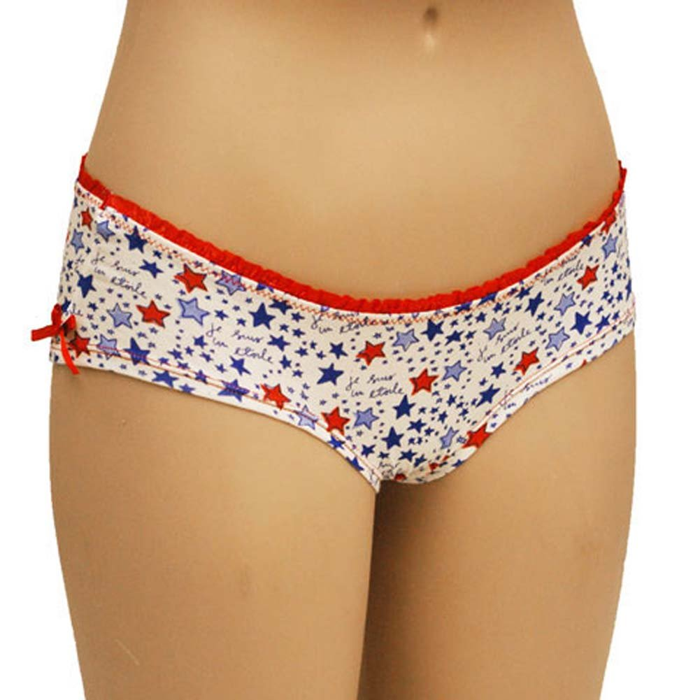 Star Print Boyshort Panty with Sexy Bow Junior Medium - View #1