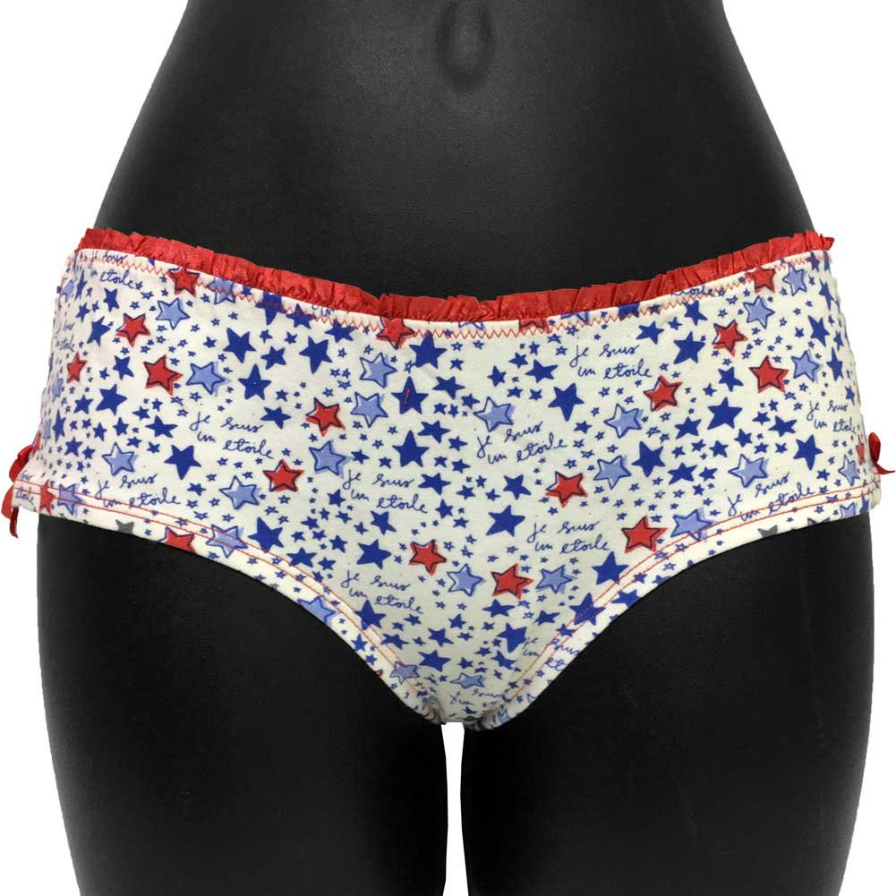 Star Print Boyshort Panty with Sexy Bow Junior Medium - View #3