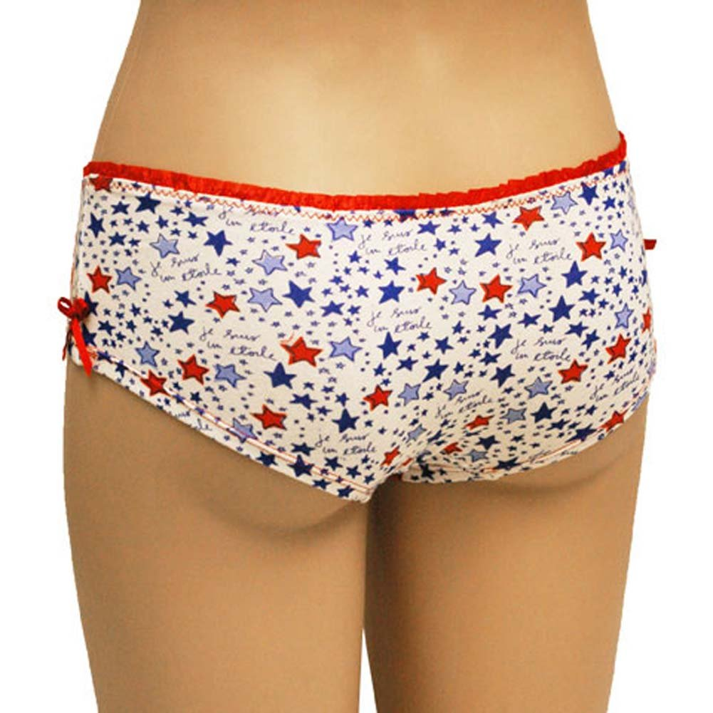 Star Print Boyshort with Bow Junior Large - View #2
