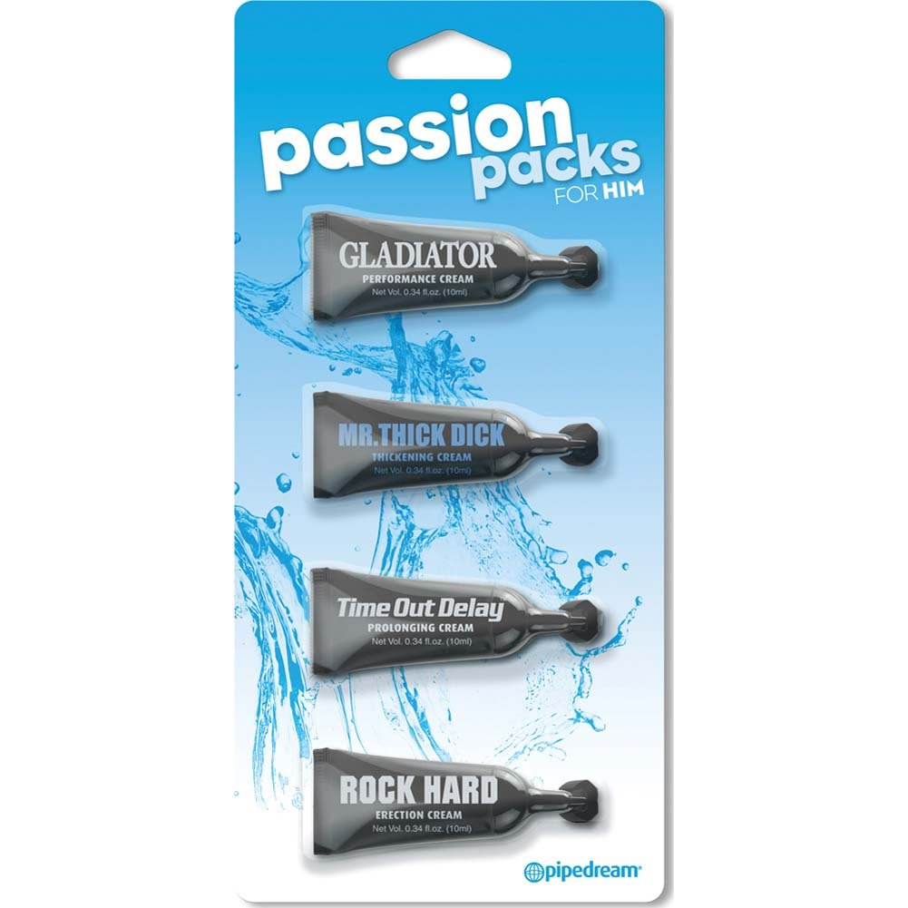 Passion Packs For Him 4 Tube Assorted Lube Pack 0.34 Fl.Oz 10 Ml Each - View #1