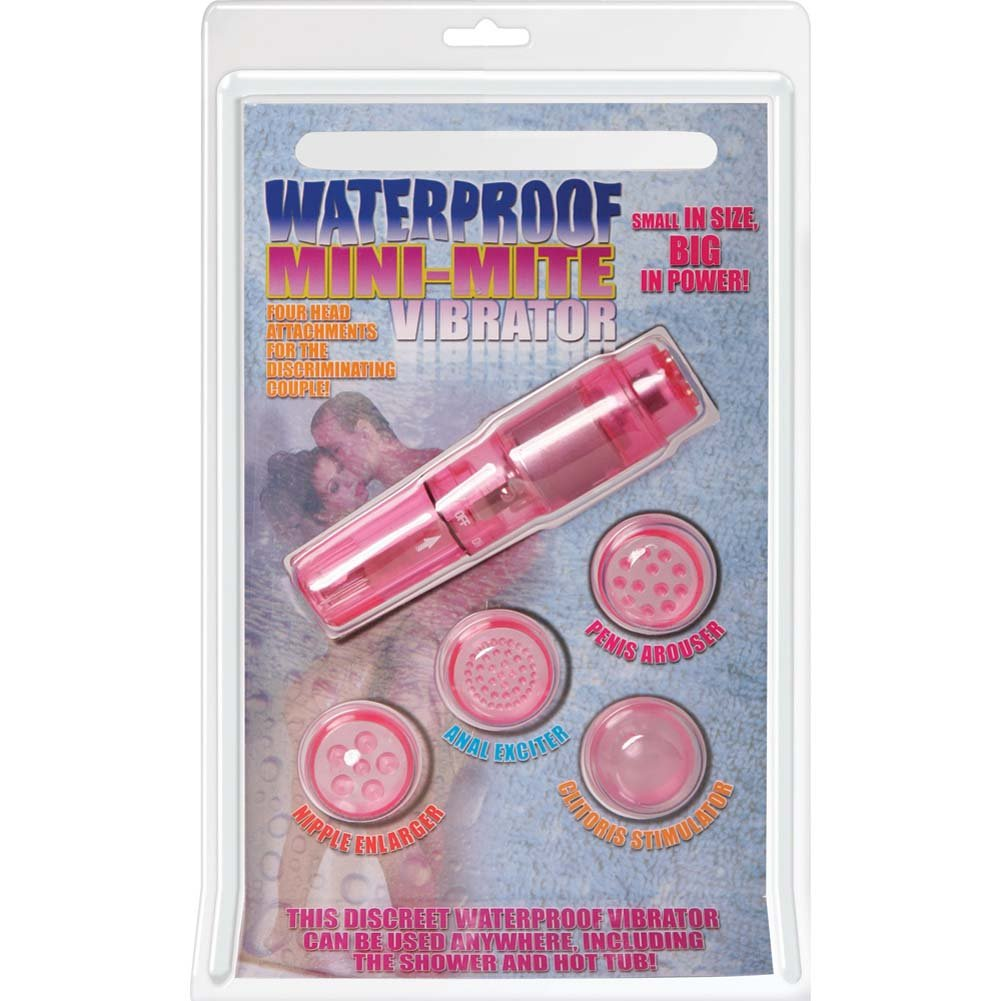 "Mini Mite Personal Waterproof Vibrator 4"" Pink - View #1"