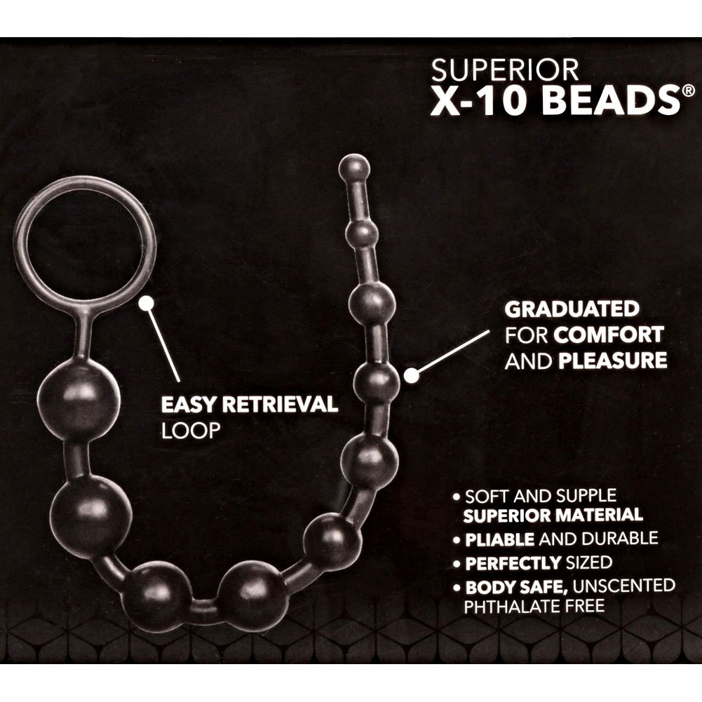 "Superior X-10 Beads 11"" Black - View #1"