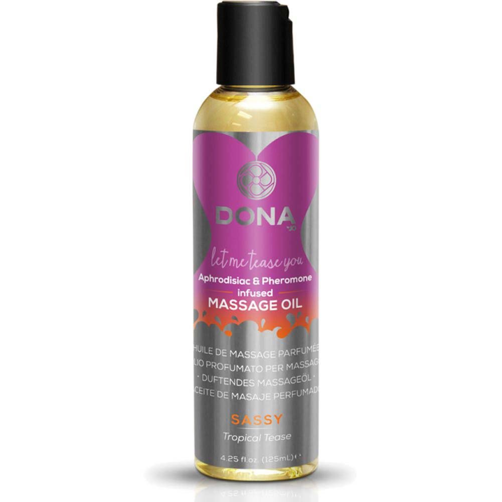 DONA Scented Massage Oil 4 Fl.Oz Sassy Aroma Tropical Tease - View #1