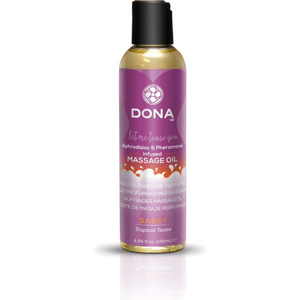DONA Scented Massage Oil 4 Fl.Oz Sassy Aroma Tropical Tease - View #3