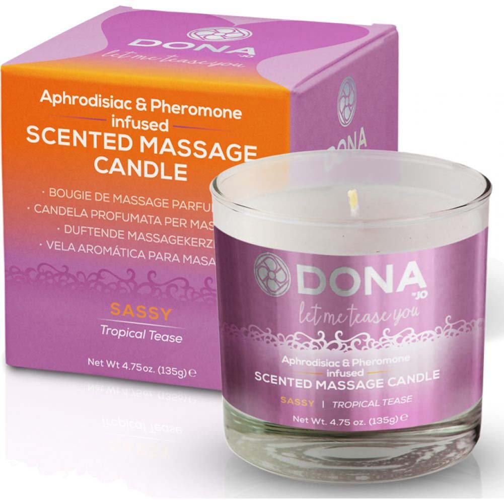 DONA Scented Massage Candle Sassy Aroma - Tropical Tease - 4.75 Oz. - View #1