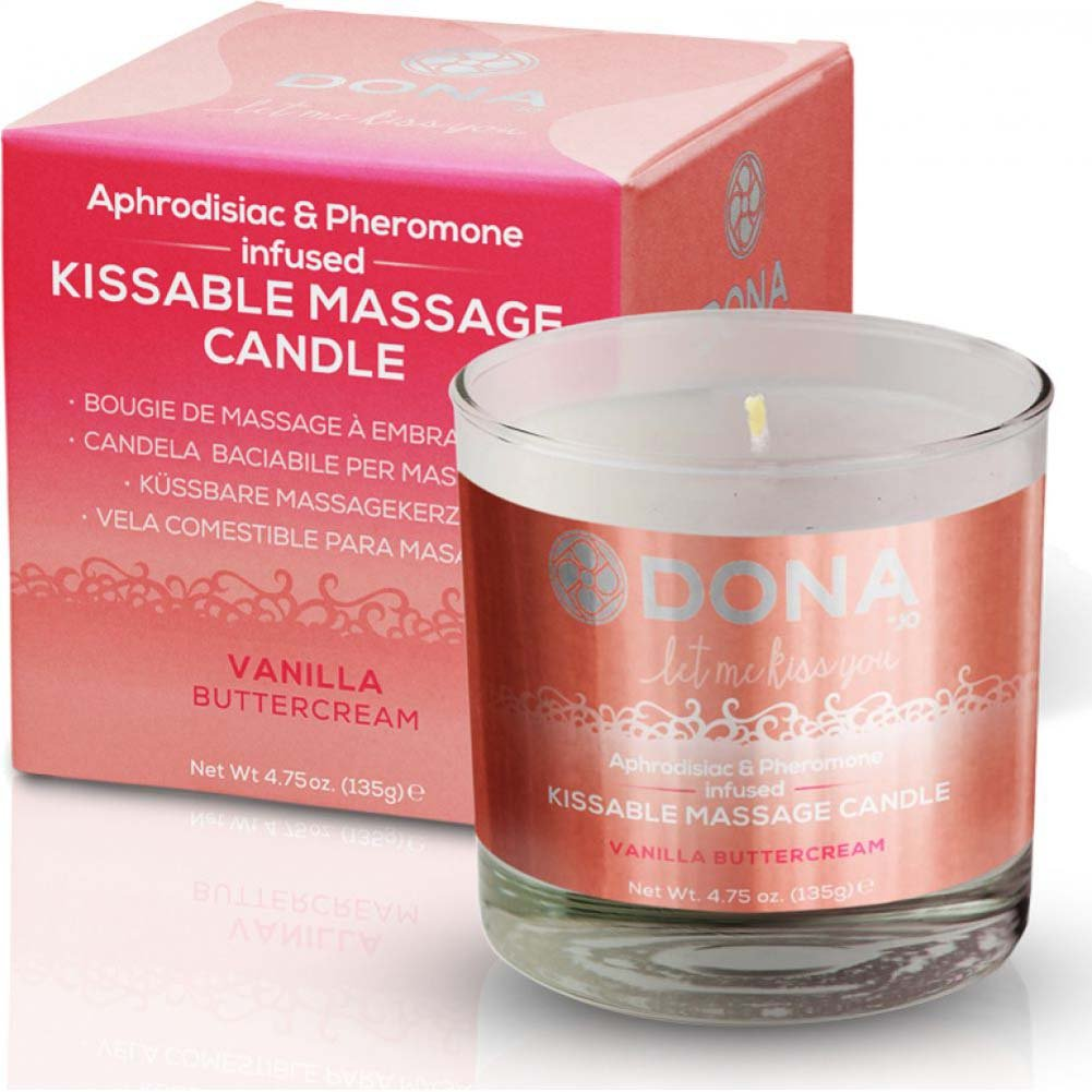 DONA Kissable Massage Candle - Vanilla Buttercream - 4.75 Oz. - View #1