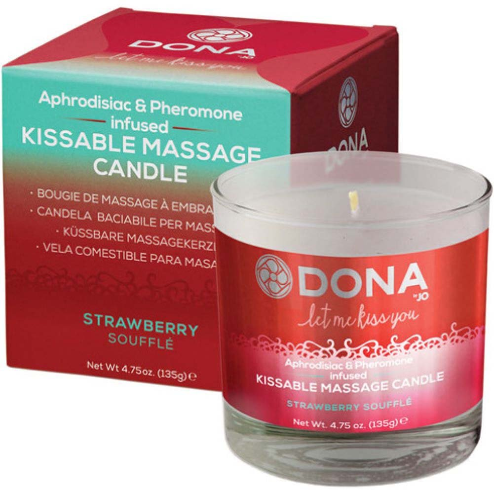 DONA Let Me Kiss You Massage Candle Strawberry Souffle - View #2