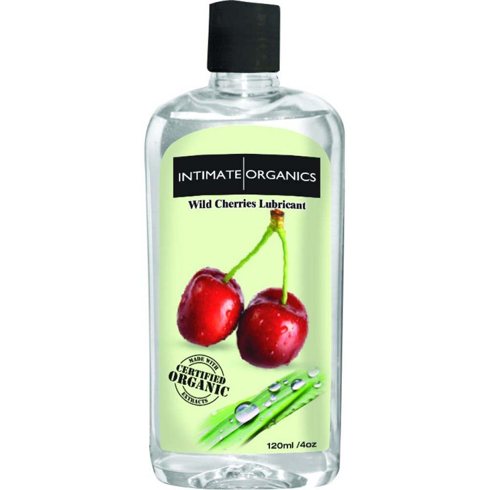 Intimate Organics Flavored Personal Lubricant 4 Fl.Oz 120 Ml Wild Cherries - View #2