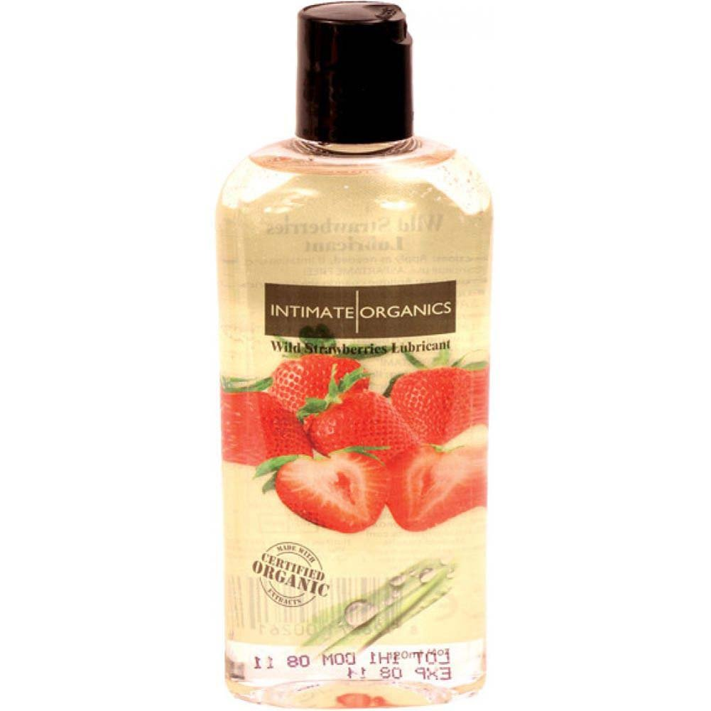 Intimate Organics Flavored Personal Lubricant 4 Fl.Oz 120 Ml Wild Strawberries - View #1