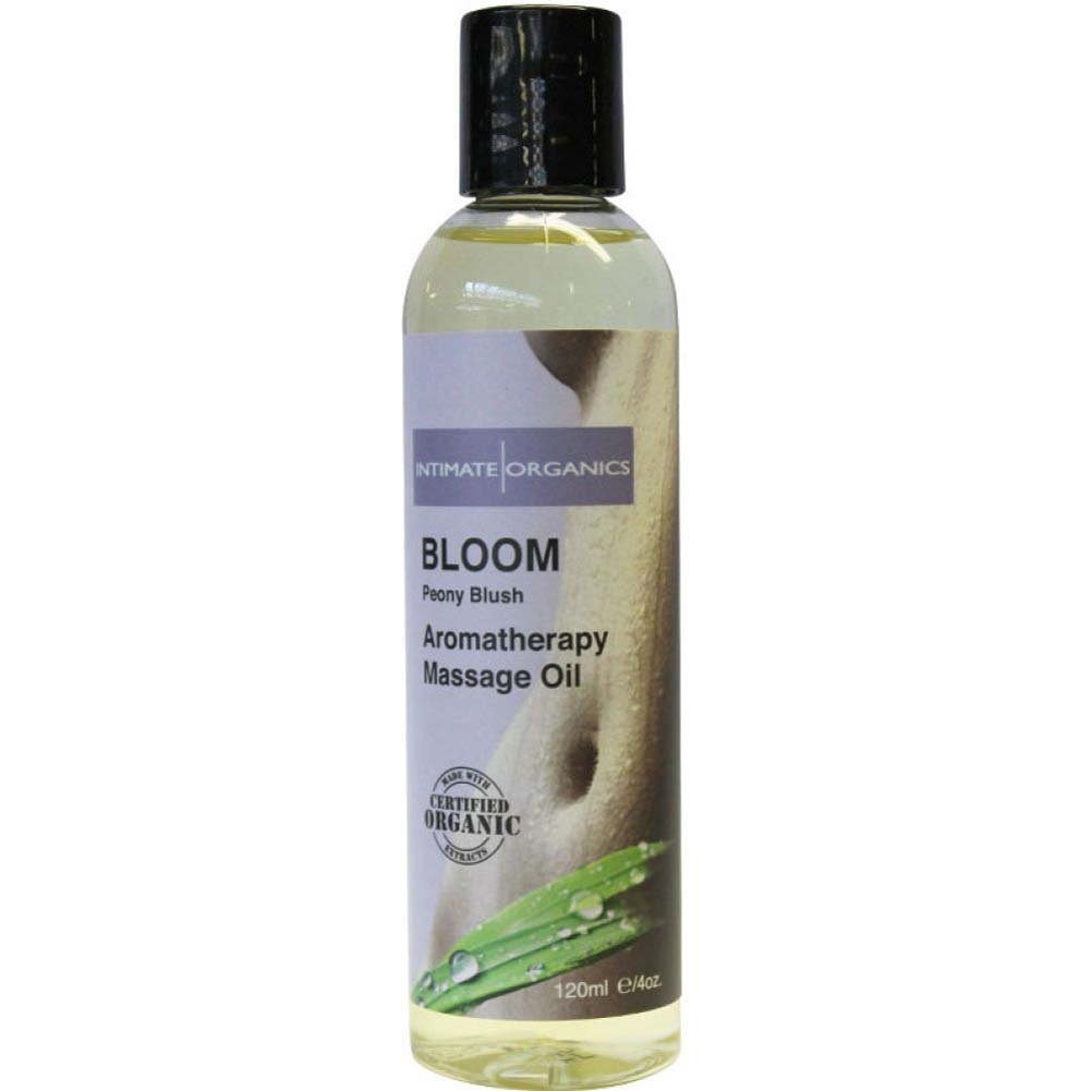 Intimate Organics Bloom Aromatherapy Massage Oil 4 Fl.Oz Peony Blush - View #1